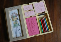 Fashion plates - this was definitely one of my favorite toys from the 80's!!  Lani would LOVE!