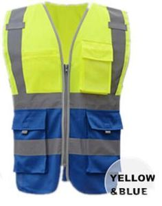 Security & Protection Objective Yellow Reflective Vest Reflective Jacket High Visibility Knitted Reflective Safety Vest Logo Printing Vest Safety On Road Firm In Structure