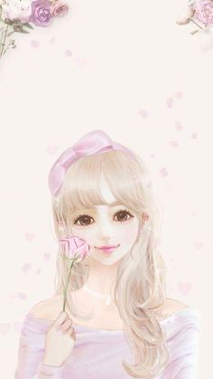 Find images and videos about girl, cute and pink on We Heart It - the app to get lost in what you love. Anime Korea, Korean Anime, Korean Art, Illustration Girl, Character Illustration, Cute Kawaii Girl, Lovely Girl Image, Girly Drawings, Cute Girl Wallpaper