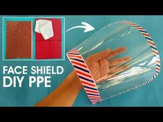 Here is how to make a very easy and quick face shield PPE (personal protective equipment) to protect yourself from a sneezing or coughing person infected by . Easy Face Masks, Diy Face Mask, Face Diy, Sewing Hacks, Sewing Projects, Plastic Folders, Diy Mask, Diy Home Crafts, Mask Design