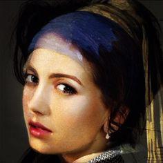 Girl with a pearl earring Girl With Pearl Earring, Hermes, Average Face, Johannes Vermeer, Pearl Earrings, Beautiful, La Perla, Daughter, Pearl Studs
