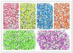 Wholesale 1000pcs 3D Nail Art Fluorescent Metallic Studs Stud Nail Art Manicure | eBay