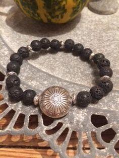 armband, black lava