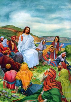 "Matthew 5:1-5 - ""And seeing the multitudes, he went up into a mountain: and when he was set, his disciples came unto him: And he opened his mouth, and taught them, saying, Blessed are the poor in spirit: for theirs is the kingdom of heaven. Blessed are they that mourn: for they shall be comforted. Blessed are the meek: for they shall inherit the earth."""