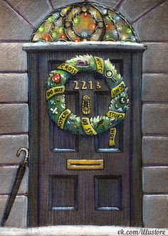 Sherlock Christmas Card by nokeek.deviantart.com on @DeviantArt