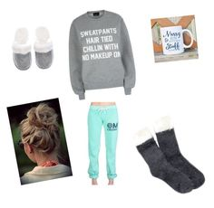 """Chill"" by amarch3333 ❤ liked on Polyvore featuring Private Party, Free Press and Victoria's Secret"