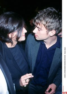 Justine Frischmann (of Elastica) and Damon Albarn (of Blur) attend the 49th Cannes Film Festival, 01.05.1996