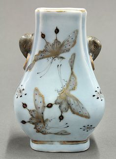 Chinese Enameled Porcelain Butterfly Vase