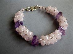 Купить DESSERT ROSE Браслет - браслет из камней, красивый браслет, ювелирные украшения, серебряный браслет