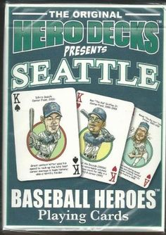Seattle Mariners MLB Baseball Hero Decks Playing Cards Poker Sized 52 Card Deck . $9.99. in near mint/mint condition, authenticated by Seller
