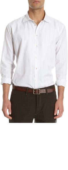 MASSIMO ALBA Wide Stripe Shirt