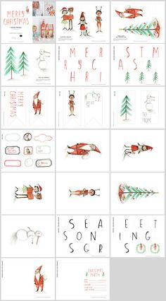 Christmas Printables for Playful PaperToys and Festive Decor by tuesdaymourning