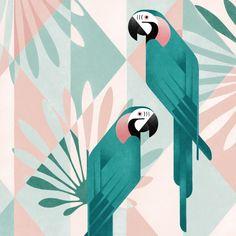 Samy Halim s Geometric Birds Illustrations Made on iPad Trendland - Design Art Culture Online Magazine Art And Illustration, Vogel Illustration, Animal Illustrations, Geometric Bird, Art Tumblr, Art Graphique, Animal Design, Bird Art, Design Art