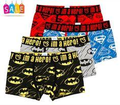 36daea1916 Pink Hero Duperhero Batman Superman boxer brief underwear 4pk - Featured  Deal Limited Time - PECS