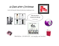 1/6/14 On the 12th Day after Christmas www.marykay.com/vmcclain1 www.facebook.com/vikkimarykayconsultant
