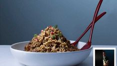 Slow-cooked lamb shank and giant couscous salad
