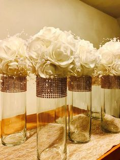 6 Beautiful flower kissing balls in white, delicate pearls, pomander flower balls with ribbon hangers pomander flowers wedding decorations Gold Wedding Centerpieces, Wedding Flower Decorations, Candle Centerpieces, Wedding Flowers, Mirror Centerpiece, Quinceanera Decorations, Kissing Ball, Diy Wedding, Dream Wedding