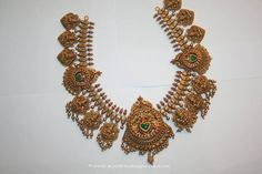 Gold-Antique-Kemp-Temple-Choker-Prakruthi-VBJ.jpg (1296×864)
