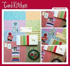 February 2014 Card Kitchen kit via the Card Kitchen Blog