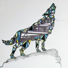 Geometry wolf #colour #color #colourful #geometry #modern #illustration #nature #awesome #wolf #animal #sketch #artist #painting #marker #triangle #instagood #beautiful #artwork #art #drawings #drawing #fun #artstyle #streetart #illusion #amazing #photooftheday #cute #cartoon #sketches