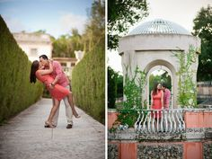 Vizcaya engagement session by Peachy Keen Photography