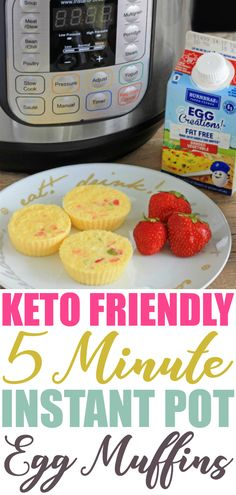 You can have breakfast in a flash with this Keto Friendly 5 Minute Instant Pot Egg Muffins recipe. Make a batch or two and store for even faster breakfasts during the week! Regular oven directions also included.