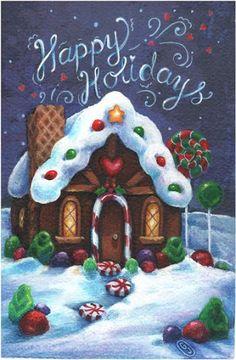 Christmas Rock, Christmas Owls, Christmas Drawing, Christmas Scenes, Christmas Gingerbread, Christmas Makes, Christmas Clipart, Christmas Printables, Christmas Wishes