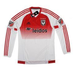 1040afe5e DC United MLS Adidas Men s White Authentic On-Field Long Sleeve Jersey