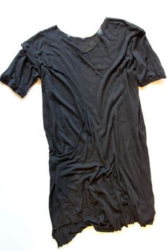 DECONSTRUCTED DOUBLE LAYERED SILK WOOL JERSEY TOP Only five hundred dollars
