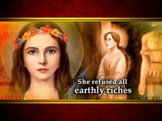Brave Saint Philomena - Patroness of the Youth.... THIS is the saint I asked to bless the 680 project after the flood... 33 days the interstate was rebuilt!! Unthinkable!