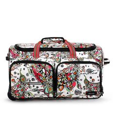 90ab199a719 Look what I found on  zulily! White Optic Songbird Rolling Duffle Bag   zulilyfinds