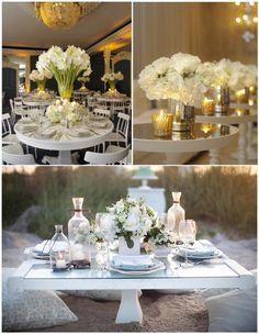 stunning white centerpieces