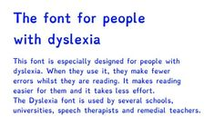 Dyslexia Font to help make reading easier. Repinned by SOS Inc. Resources @sostherapy.