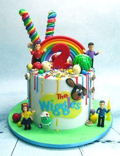 Toddler Birthday Cakes, Second Birthday Cakes, Harry Birthday, 3rd Birthday Parties, Birthday Ideas, Birthday Cake Boy, Wiggles Cake, Wiggles Party, Wiggles Birthday
