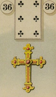 36 The Cross - The Lenormand Oracle by Marie Anne Adelaide Lenormand