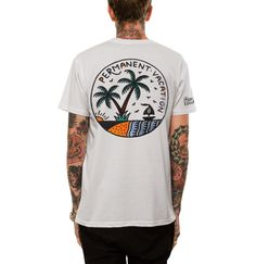 White 'Permanent Vacation' Tee by Few and Far Collective - 4