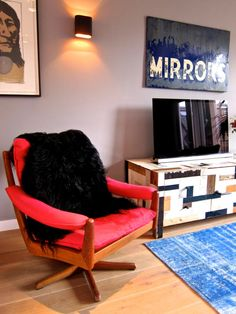 great trunk/cabinet!  Maria & Eric's Creative, Comfortable Home in Amsterdam House Tour | Apartment Therapy
