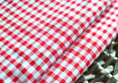 159 cm x 45 cm (1/2 yard) red and white cotton check fabric I Quilting fabric I Red and white check I Cotton fabric I Bow making fabric by SixthCraft on Etsy