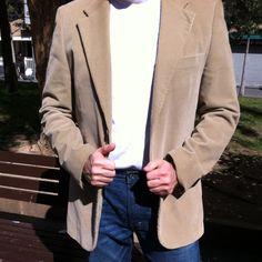 Casual saturday morning - camiseta de Ovejita, americana de Zara, tejanos Levi's 505 pre-whashed