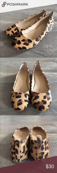 Colin Stuart animal print flats size 10 Gently worn , size 10, faux calf hair Colin Stuart Shoes Flats & Loafers