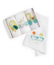 Pixie & Finch Boys - Muslin Squares - Pack Of 4 #mamasandpapas #dreamnursery