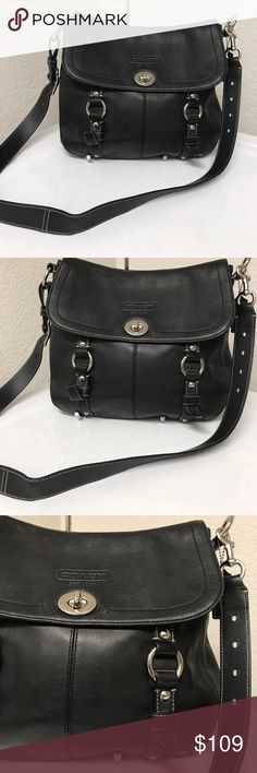 Coach messenger/Saddle  bag Excellent condition barely have flaws. Coach Bags Crossbody Bags