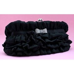 Black Silk Fringe Bridesmaid Party Evening Ball Clutch Bags Purses  SKU-1110462