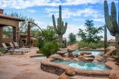 Southwestern Swimming Pool with Fence, exterior stone floors, Pathway Swimming Pool House, Swimming Pools, Porch Garden, Stone Flooring, Jacuzzi, Pathways, Homesteading, Home Improvement, Pool Backyard