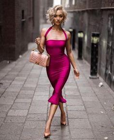Jenny- Peplum Bandage Bodycon Midi Dress