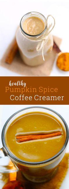 Amazing homemade pumpkin spice coffee creamer! Dairy free, vegan, paleo-friendly and easy to make!