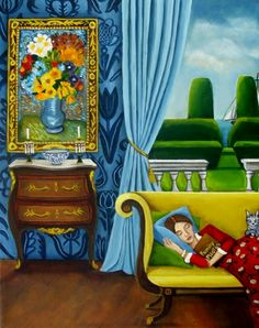Family Photos, painting by artist Catherine Nolin