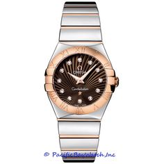 Omega Constellation Ladies Quartz Brown Dial with Rose Gold & Steel Watch Omega Constellation Ladies, Watch Crown, Omega Red, Discount Watches, Omega Seamaster, Automatic Watch, Rolex Watches, Luxury Watches, Watch Bands