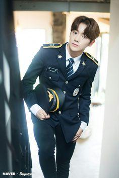 The Boyz - Hyunjae 'Right Here' promotion photoshoot by Naver x Dispatch. Bts Hoodie, Hyun Jae, Brown Eyed Girls, Mnet Asian Music Awards, Hot Boys, Handsome Boys, Boyfriend Material, K Idols, Pop Group