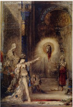 Gustave Moreau, a french symbolist dark painter who inspired Valentino's 2012-2013 haute couture line.